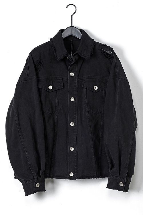 Washed Damage Denim Jacket