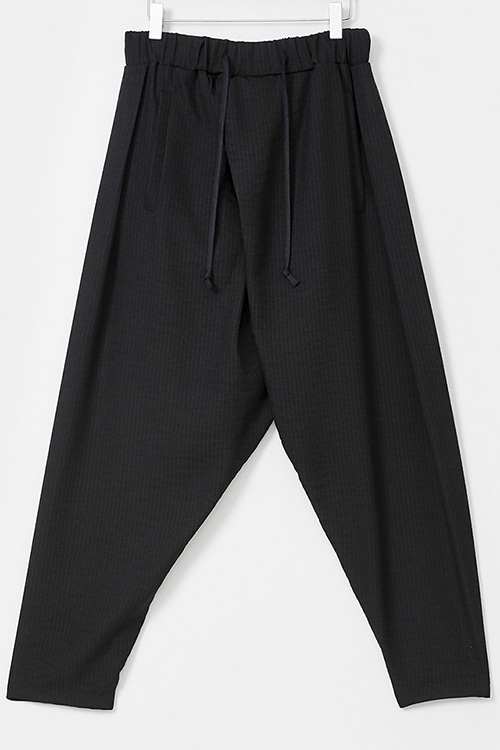 Diagonal Wrap Baggy Pants